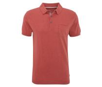 Poloshirt, Feinstrick, Brusttasche, Baumwolle