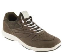 Sneaker, Leder, Lochmuster, elastische Schnürung