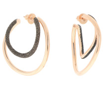 Ohrring 925 Sterling Silber, PVD Roségold
