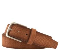 Ledergürtel, Vintage-Look, feines Lochmuster