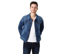 Jeansjacke, Brusttaschen, Used-Look, Kontrastnähte