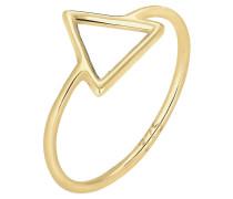 Ring Dreieck Geo Trend Basic 375 Gelb