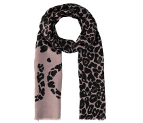 Schal, Leopardenmuster, feine Fransen