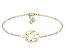 Armband Weltkugel Globus Reise Travel Cut Out 925er Silber