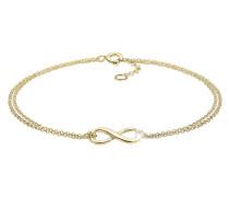 Armband Infinity Unendlichkeit Symbol 375 Gelb