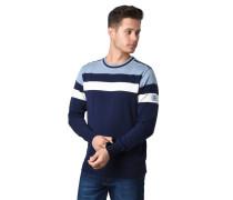 Pullover, Feinstrich, Streifen, Ripp-Bündchen, Baumwolle