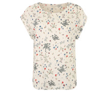 Blusenshirt, floraler Allover-Print, leicht transparent