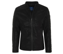Jacke, Leder-Optik, Biker-Stil, Eingrifftaschen