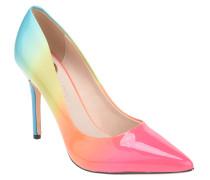 "High Heels ""Rainbow"", Farbverlauf, Pfennigabsatz, Lack-Optik"
