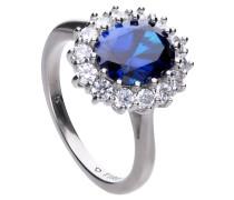 Ring, mit blauen Zirkonia, , zus. 3.49 Ct.
