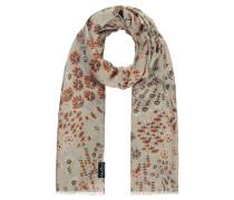 Schal, Blumen-Muster, Fransen