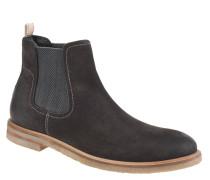 Chelsea Boots, Veloursleder, Blockabsatz