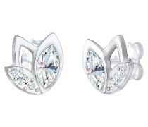 Ohrringe Stecker Blume Swarovski® Kristalle 925er