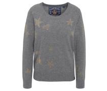 Pullover, Feinstrick, Woll-Anteil, Strass-Motiv