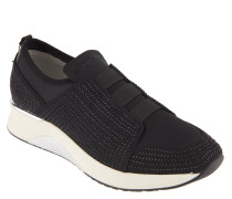 Sneaker, Slip-On, Strass, Metallic-Elemente