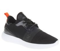 Sneaker, elastischer Einstieg, Strickgewirk, Schnürung