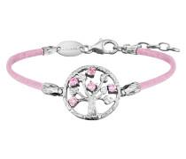 Armband Seide Rosa, Lebensbaum