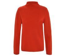 Pullover, Rollsaum, uni, Stehkragen