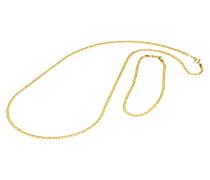 Set Collier und Armband, Gelb 375