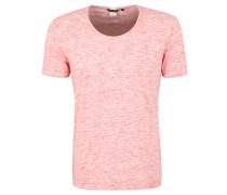 T-Shirt, offene Kanten, meliert
