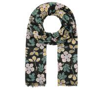 Schal, florales Design, Fransen