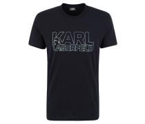 T-Shirt, Logo-Print, Metallic-Look, Baumwolle