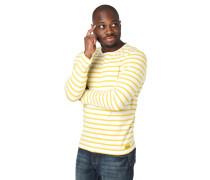 Langarmshirt, Baumwolle, Brusttasche, Streifen-Muster