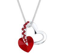 Halskette Herz Love Swarovski® Kristalle 925 Silber