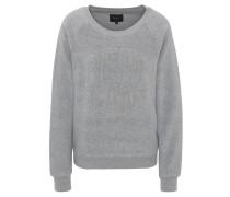 Sweatshirt, Teddyfleece, Glitzer-Stickerei