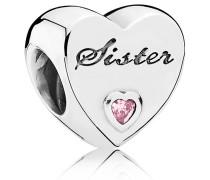 """Friendship Charm Herz """"Sister"""" 791946PCZ"""