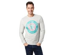 Sweatshirt, Front-Print, Baumwolle, Rundhalsausschnitt