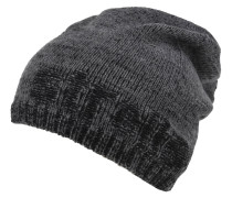 Mütze, Strick-Logo, meliert