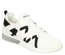 Sneaker, zweifarbig, Schnürung, Marken-Schriftzug