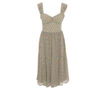 Kleid, Chiffon, Allover-Muster, Reißverschluss