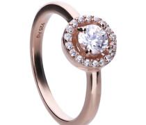 Ring roségold mit weißem -Zirkonia