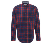 Freizeithemd, Comfort Fit, Karo-Design, Button-Down-Kragen