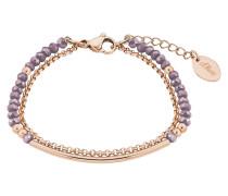 Armband mit Glassteinen 2018352 IP Rose Edelstahl