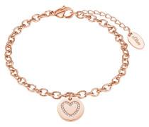 Damen-Armband mit Herz-Anhänger IP ROSE