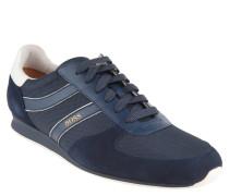 Sneaker, Materialmix, Veloursleder, Marken-Schriftzug