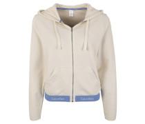 Loungewear Sweatjacke, Kapuze, Logo-Bund, Taschen