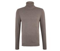 Pullover, Feinstrick, Rollsaum, Rollkragen, Links-Nähte
