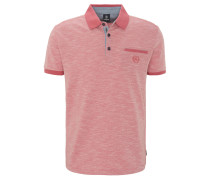 Poloshirt, meliert, Logo-Stickerei, Brusttasche