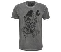"""T-Shirt """"Kurtl"""", Print, meliert, Rundhalsauschnitt"""