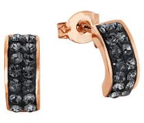 Halbcreolen mit Kristallen2015500 rosevergoldet
