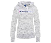 Sweatshirt, breite Bündchen, meliert, Stickereien