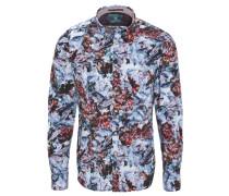 Freizeithemd, Allover-Print, Baumwolle