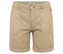 Shorts, Straight Fit, Eingrifftaschen, Baumwolle, unifarben