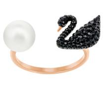 Iconic Swan Ring Black Jet 5256266