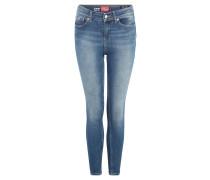 Jeans, Skinny Fit, Denim, unifarben