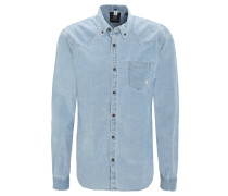 Freizeithemd, Modern Fit, Button-Down-Kragen